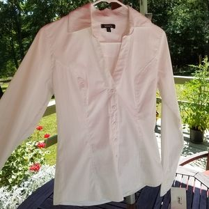 Fitted white button down shirt (womens small)
